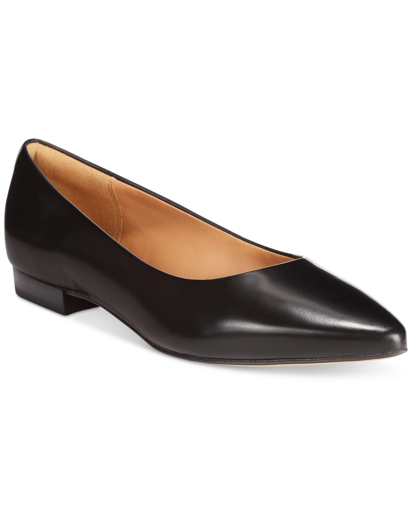 ea90f1466bd Lyst - Clarks Artisan Women s Corabeth Abby Pointed Toe Flats in Black