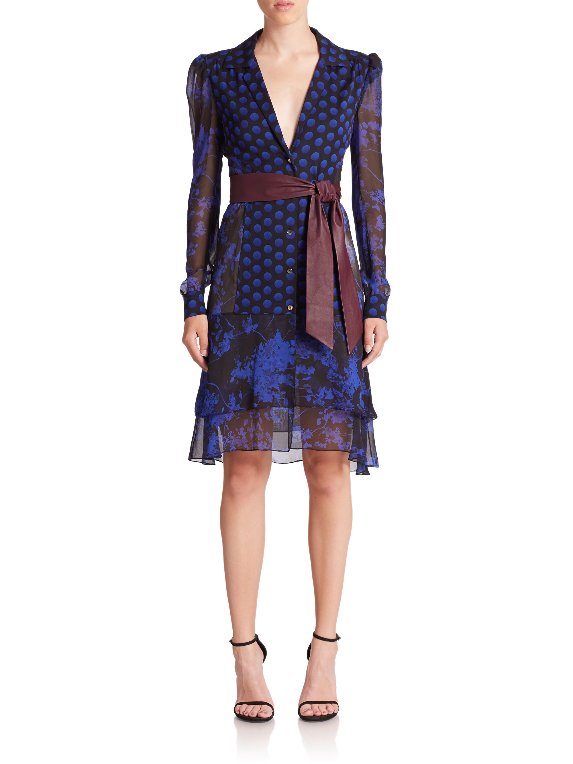 Lyst diane von furstenberg catherine printed stretch for Diane von furstenberg clothes