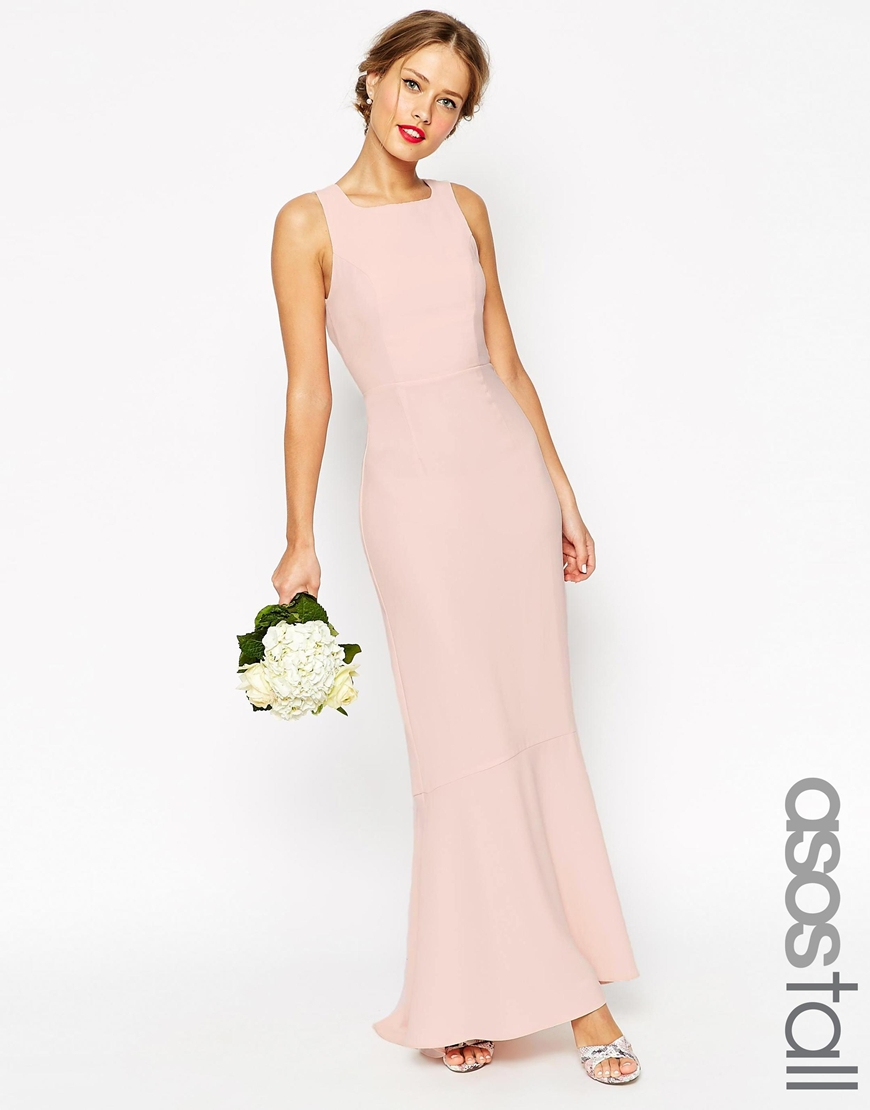 95b4c8d1626 Lyst - Asos Wedding Maxi Dress With Fishtail - Navy in Blue