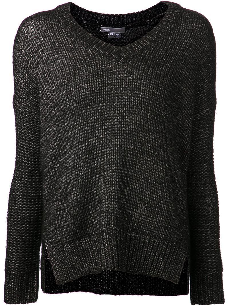 Sweater Neck Gris Slash Zanone Drawstring wStqx1R8