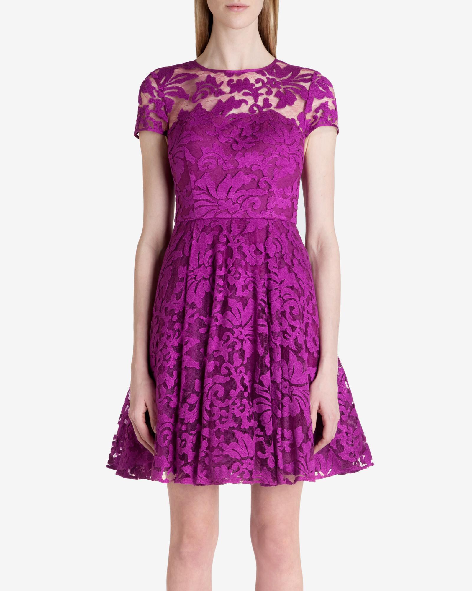 Magenta Lace Dresses
