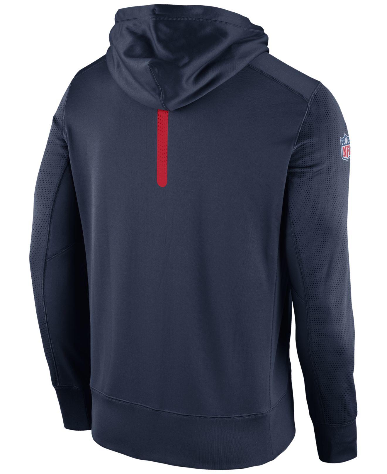 Lyst - Nike Men s New England Patriots Sideline Ko Fleece Full-zip ... 43f819a75