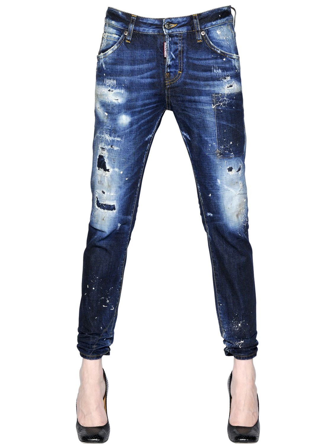 Dsquared² Cool Girl Cotton Denim Jeans in Blue - Lyst ae38c4c959b3