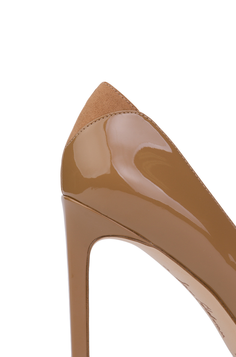 c1a6a3cdc70 Lyst - Sam Edelman Dea Pointed Toe Pumps - Camel Patent in Natural