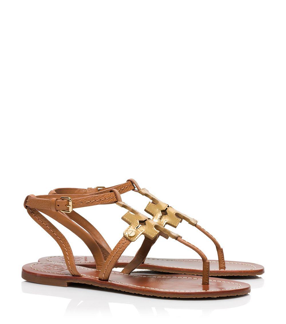143a1f5a1384ac Lyst - Tory Burch Chandler Flat Sandal in Brown