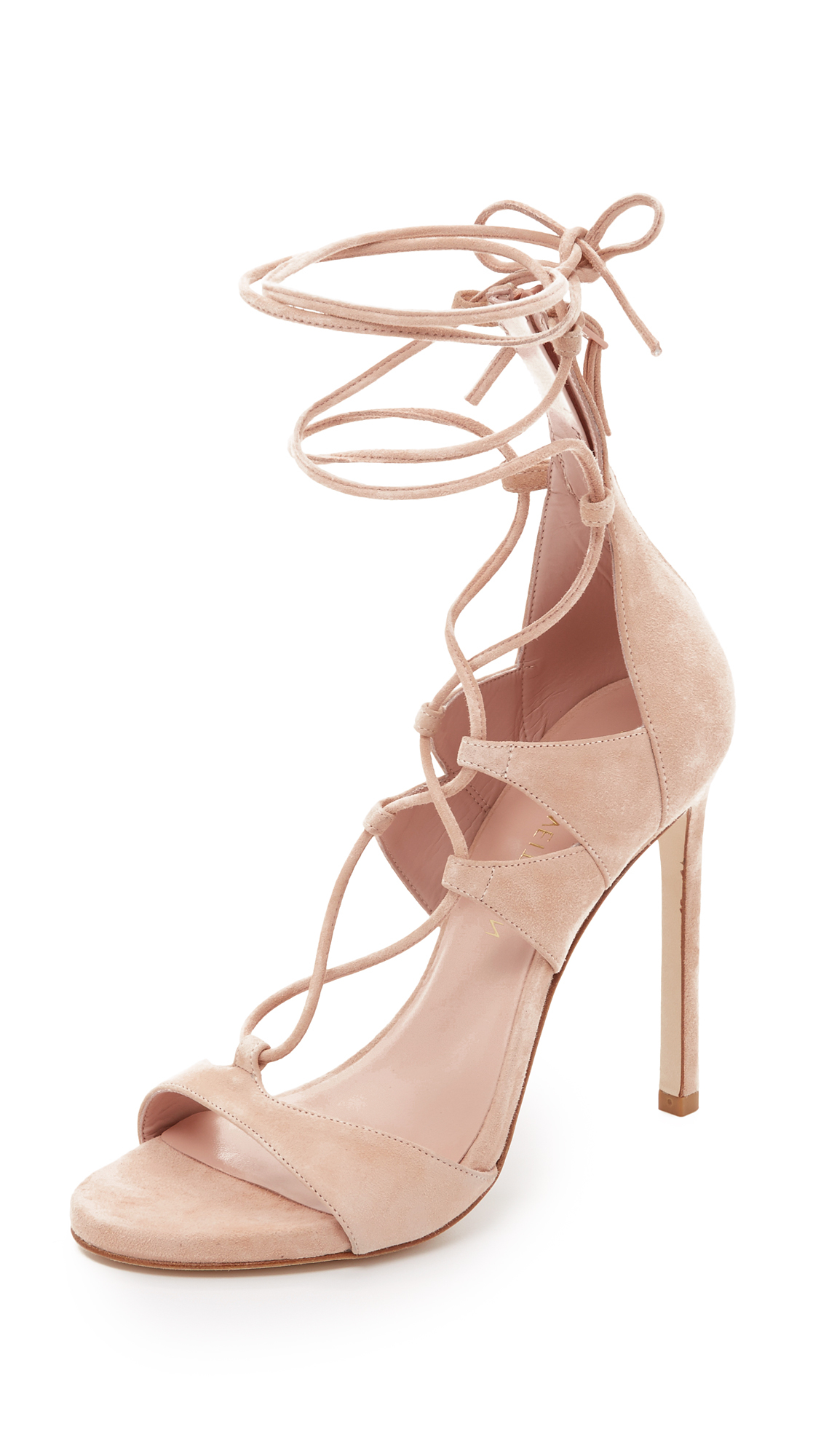 countdown package for sale Stuart Weitzman Gift Wrap Suede Sandals w/ Tags get to buy for sale comfortable cheap good selling clearance from china uBSfLkH