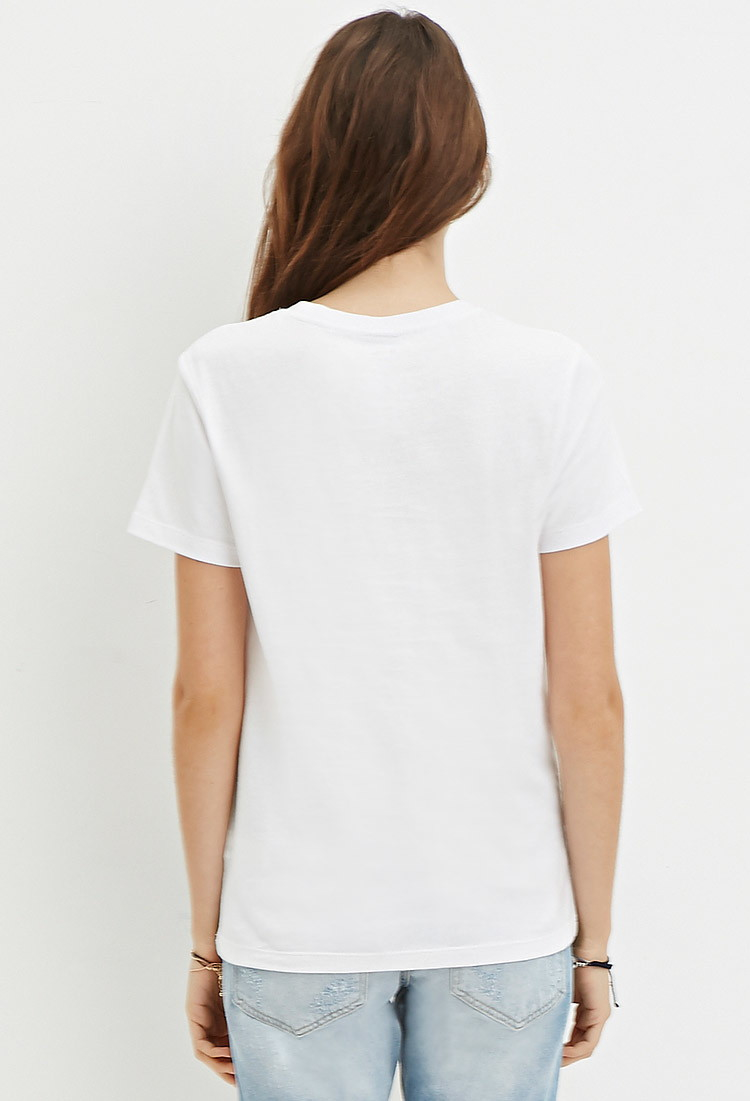 Forever 21 Cotton Sade Graphic Tee in Black - Lyst