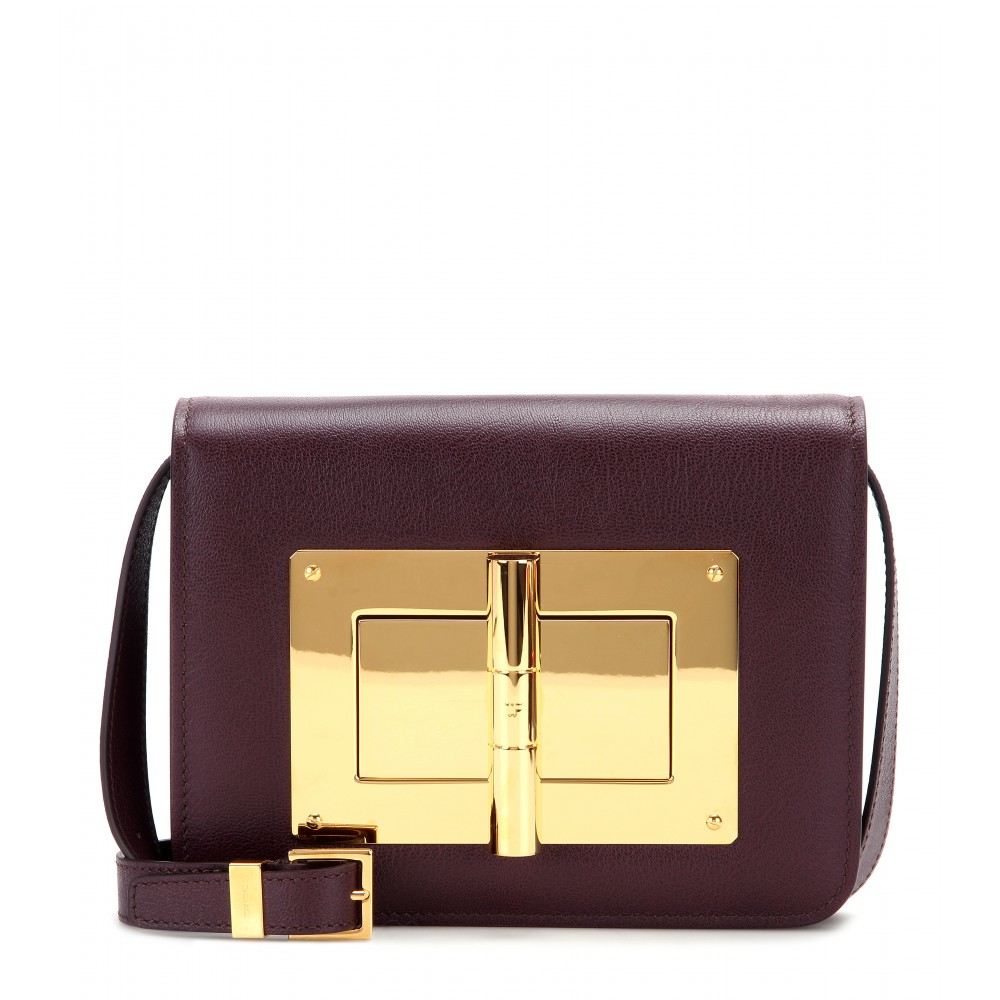 c50bebd01 Tom Ford Natalia Medium Leather Shoulder Bag in Purple - Lyst