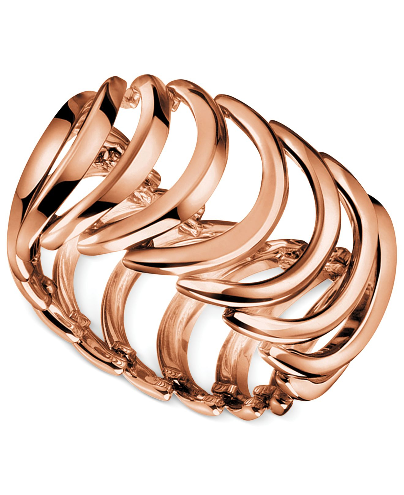 Calvin klein rose gold ring