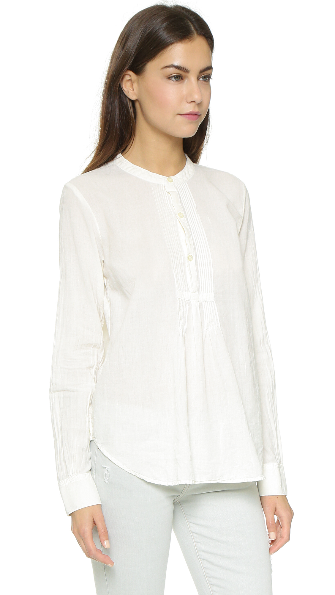 Pintuck blouse is appropriate under a blazer or jacket, or wear it alone on warm days. Made of easy-care polyester in a range of sophisticated colors. Machine wash and dry.4/5(1).