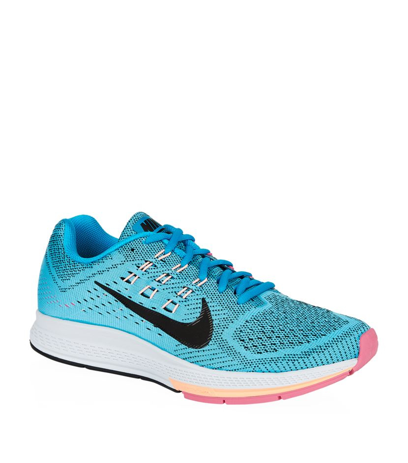 nike air zoom structure 18 shoe in blue lyst. Black Bedroom Furniture Sets. Home Design Ideas