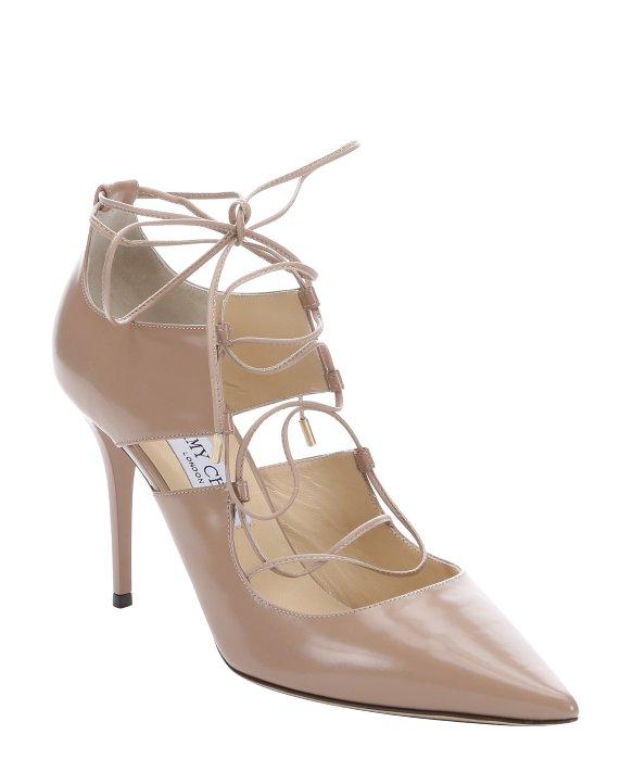 f88961812a0 583 x 700 www.lyst.com. Jimmy choo Ballet Pink Leather ...