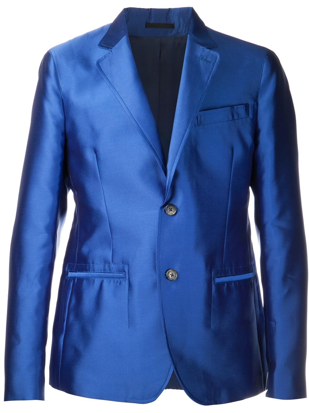 Alexander mcqueen Suit Jacket in Blue for Men | Lyst