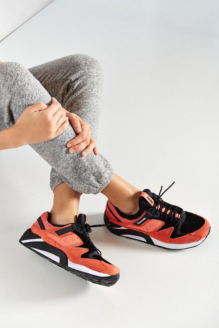 newest ca070 01891 Saucony Grid 9000 Premium-uni Sneaker in Pink - Lyst