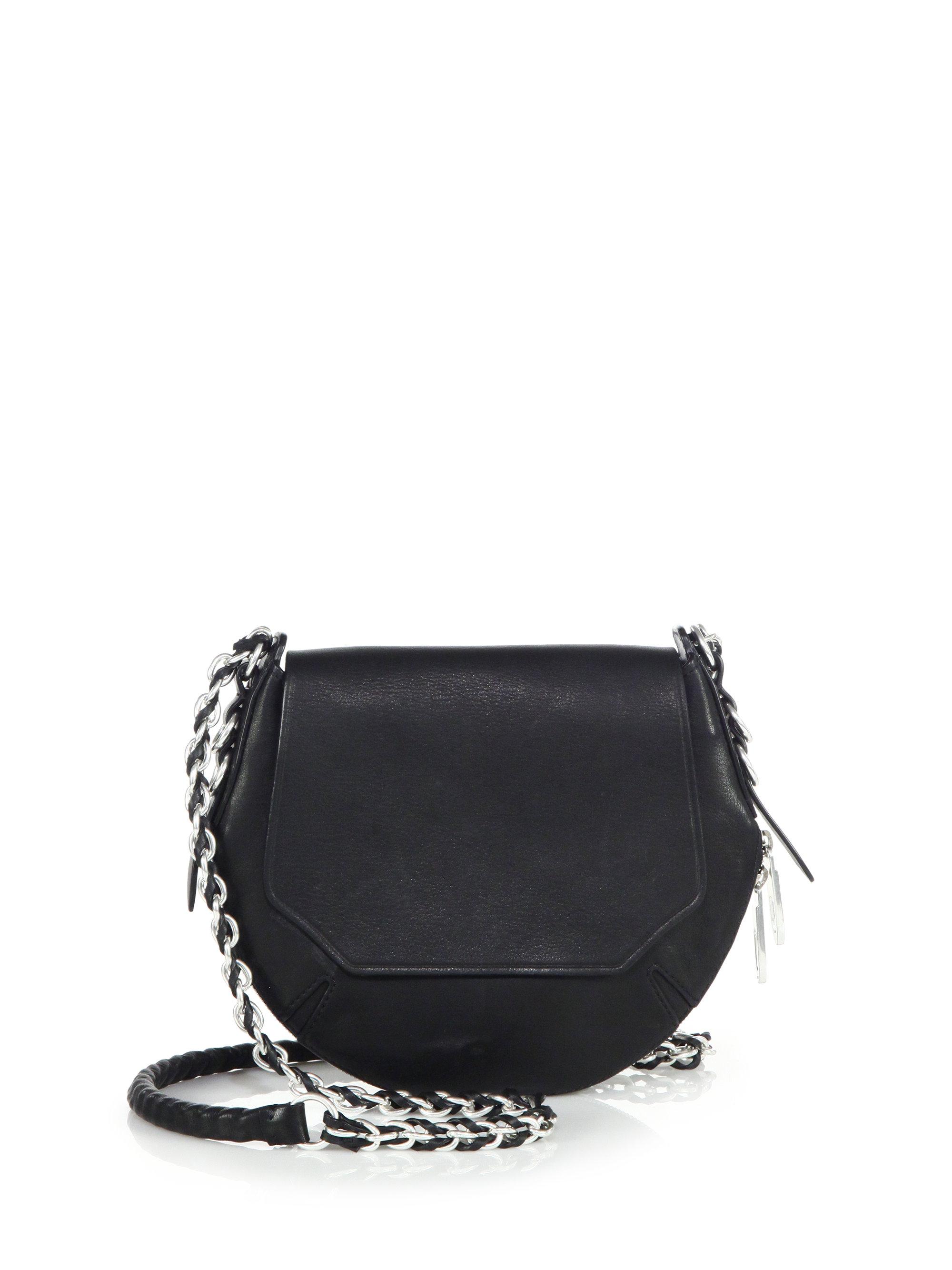 rag bone bradbury mini flap crossbody bag in black lyst
