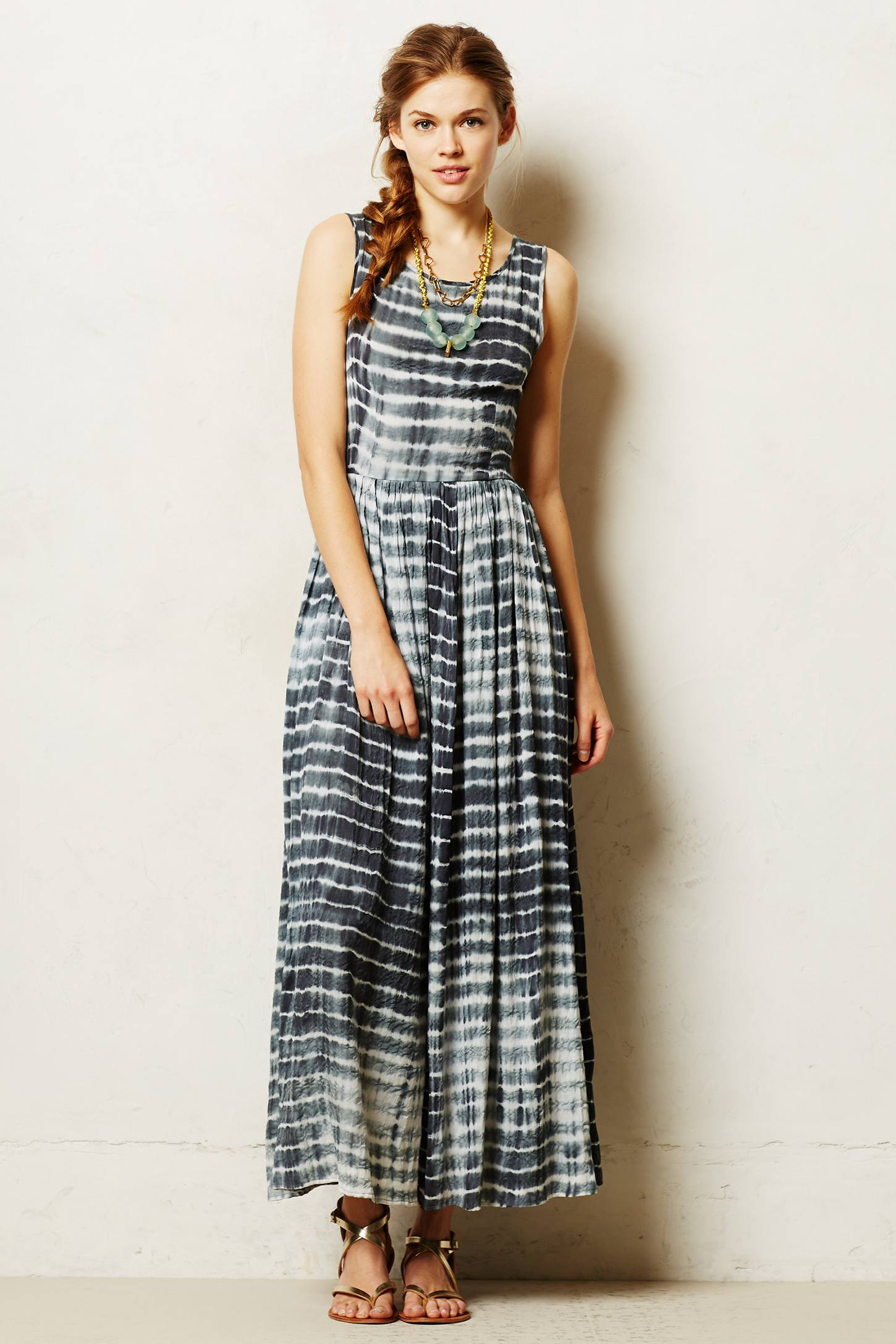 Lyst Neuw Shibori Maxi Dress In Blue