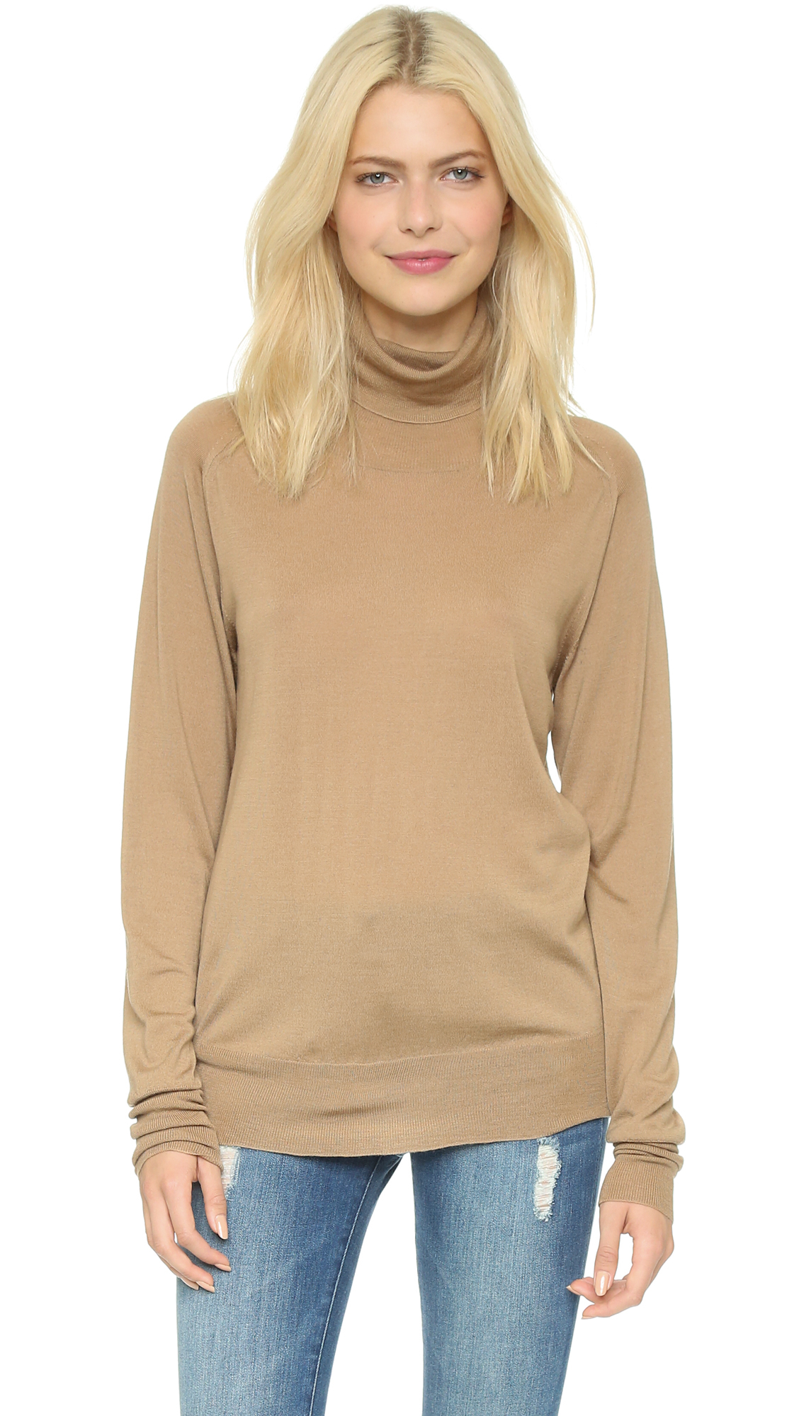 Lyst 6397 Turtleneck Sweater In Brown