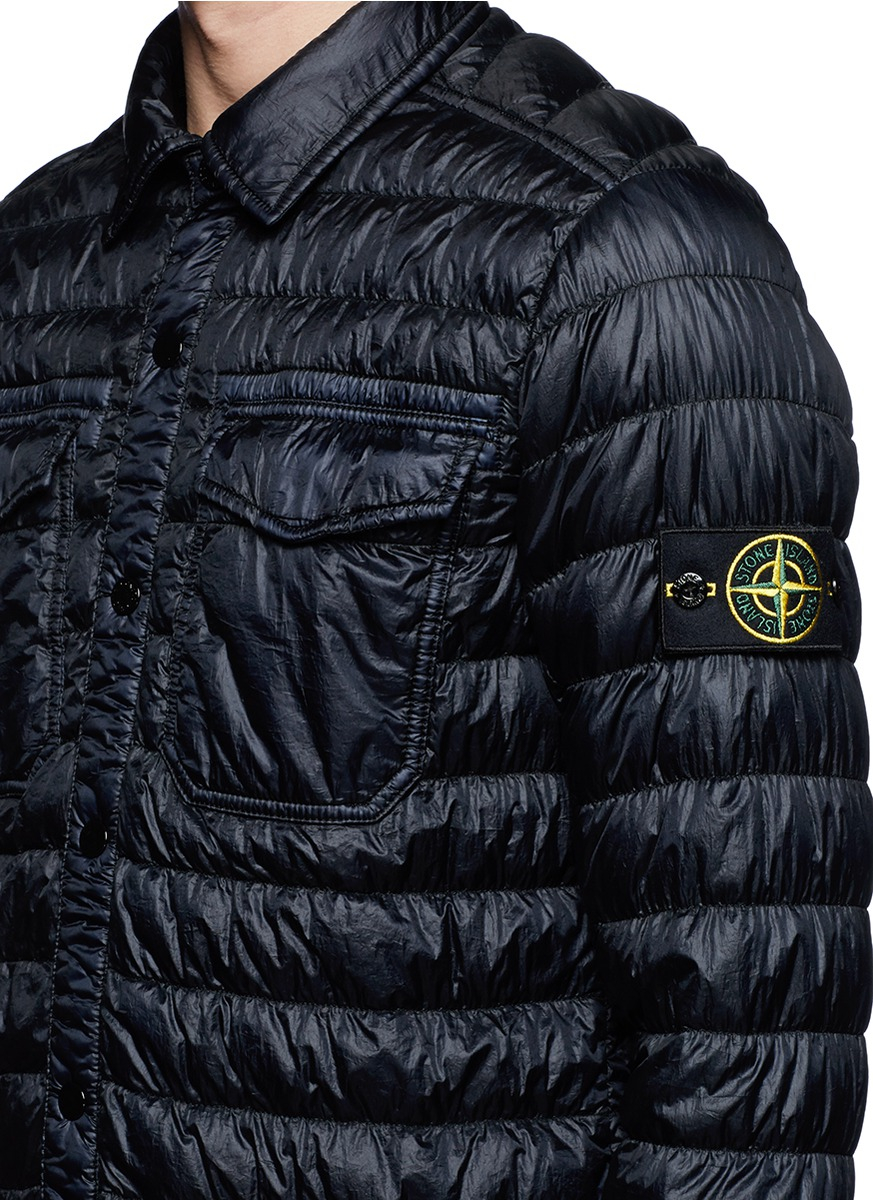 Stone Island Mens Navy Blue Down Puffer Jacket