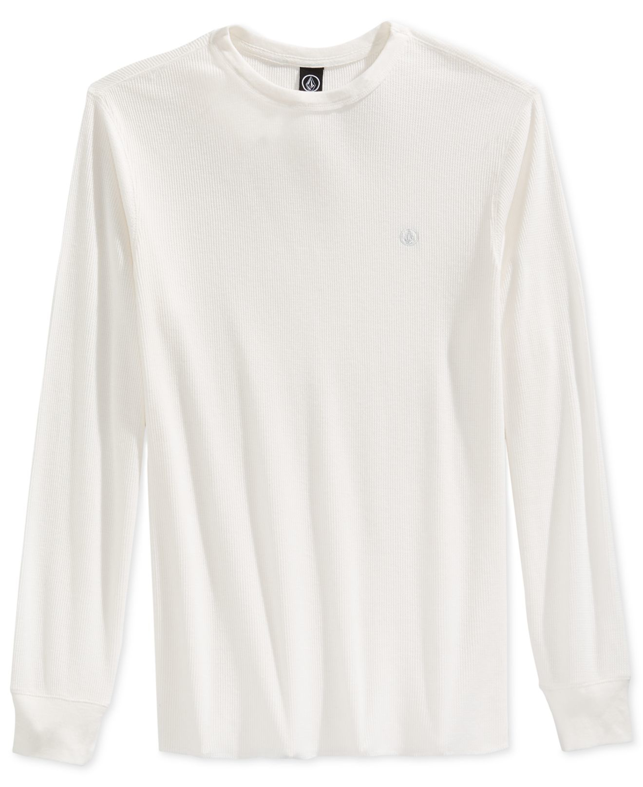 Volcom Men 39 S Ceerow Thermal Long Sleeve T Shirt In White
