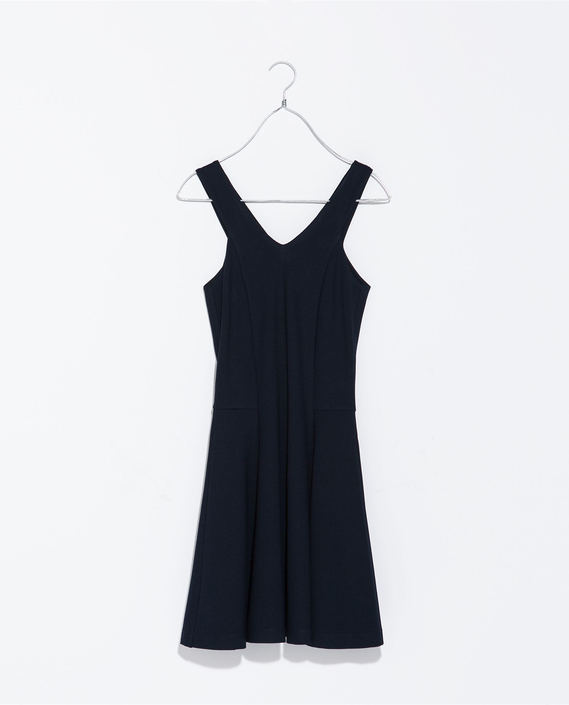 Zara Navy Blue Dress With Pencil Skirt 24