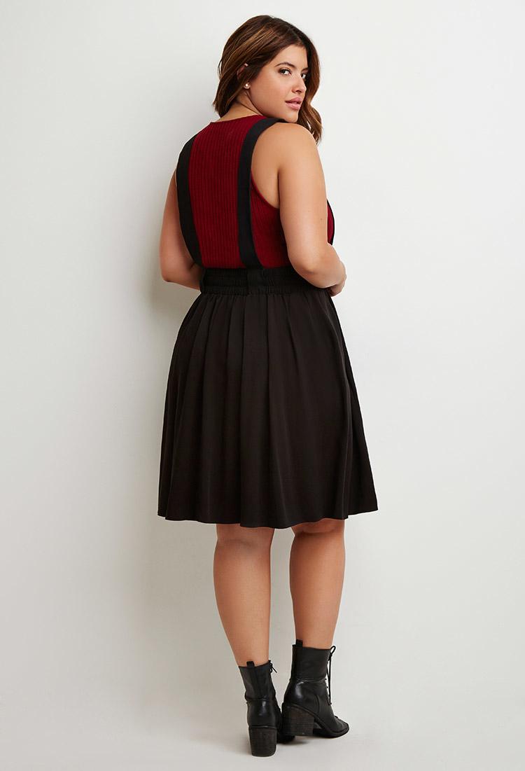 plus overall dress skirt