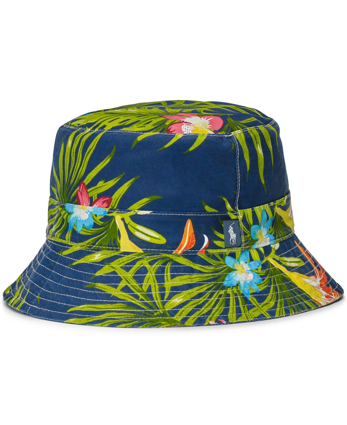 polo ralph lauren mens floralprint bucket hat for men lyst