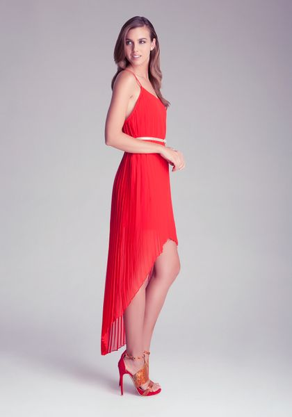 Red Open Back Maxi Dress Maxi Dress in Red Bebe