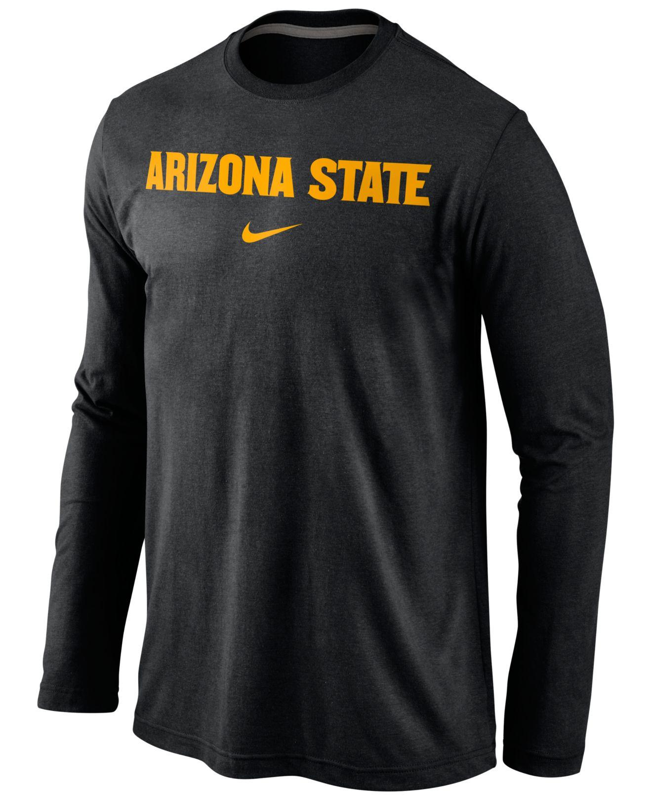 Nike Men 39 S Long Sleeve Arizona State Sun Devils Wordmark T