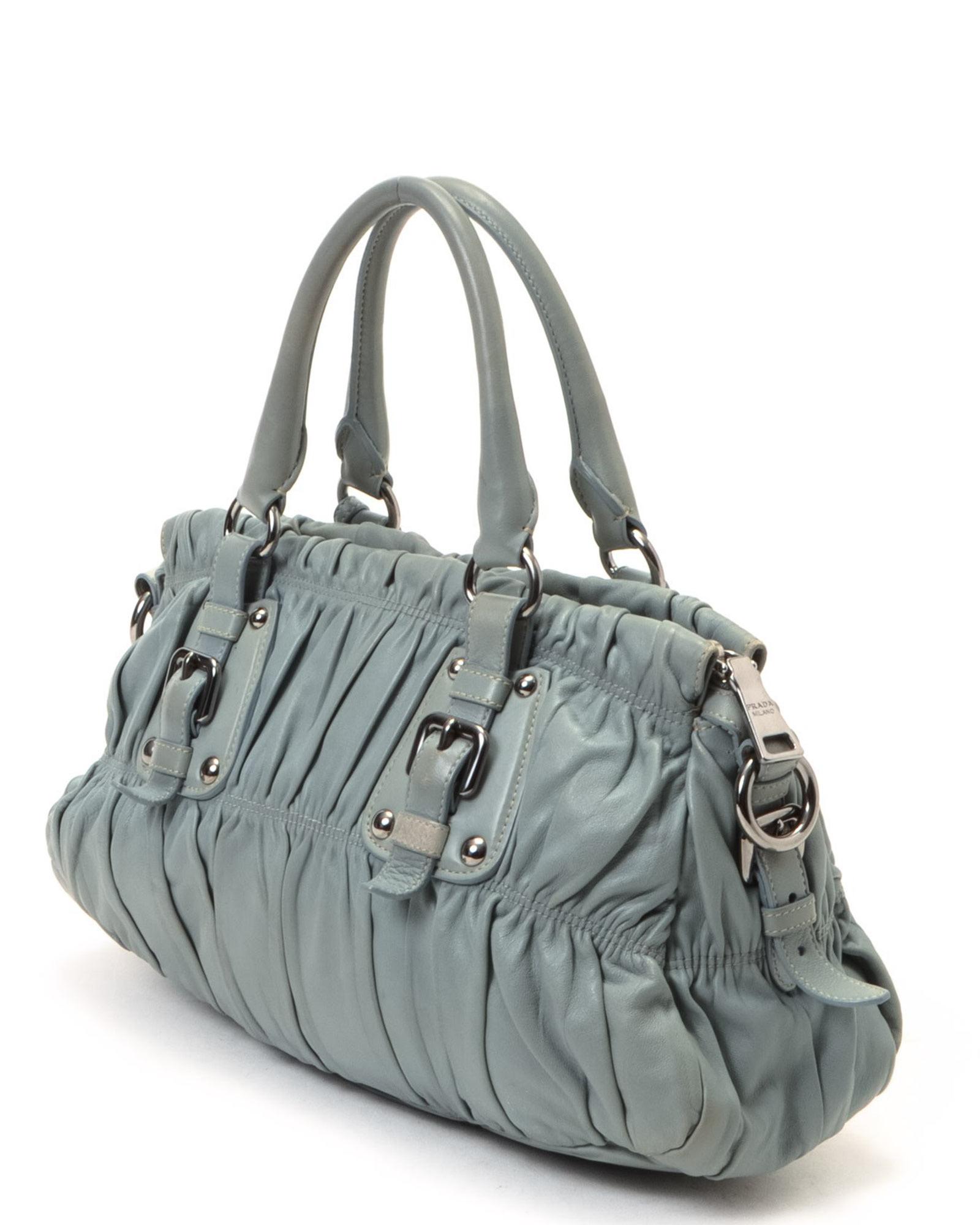 0f4a61edf007 Lyst - Prada Nappa Gaufre Bag - Vintage in Gray