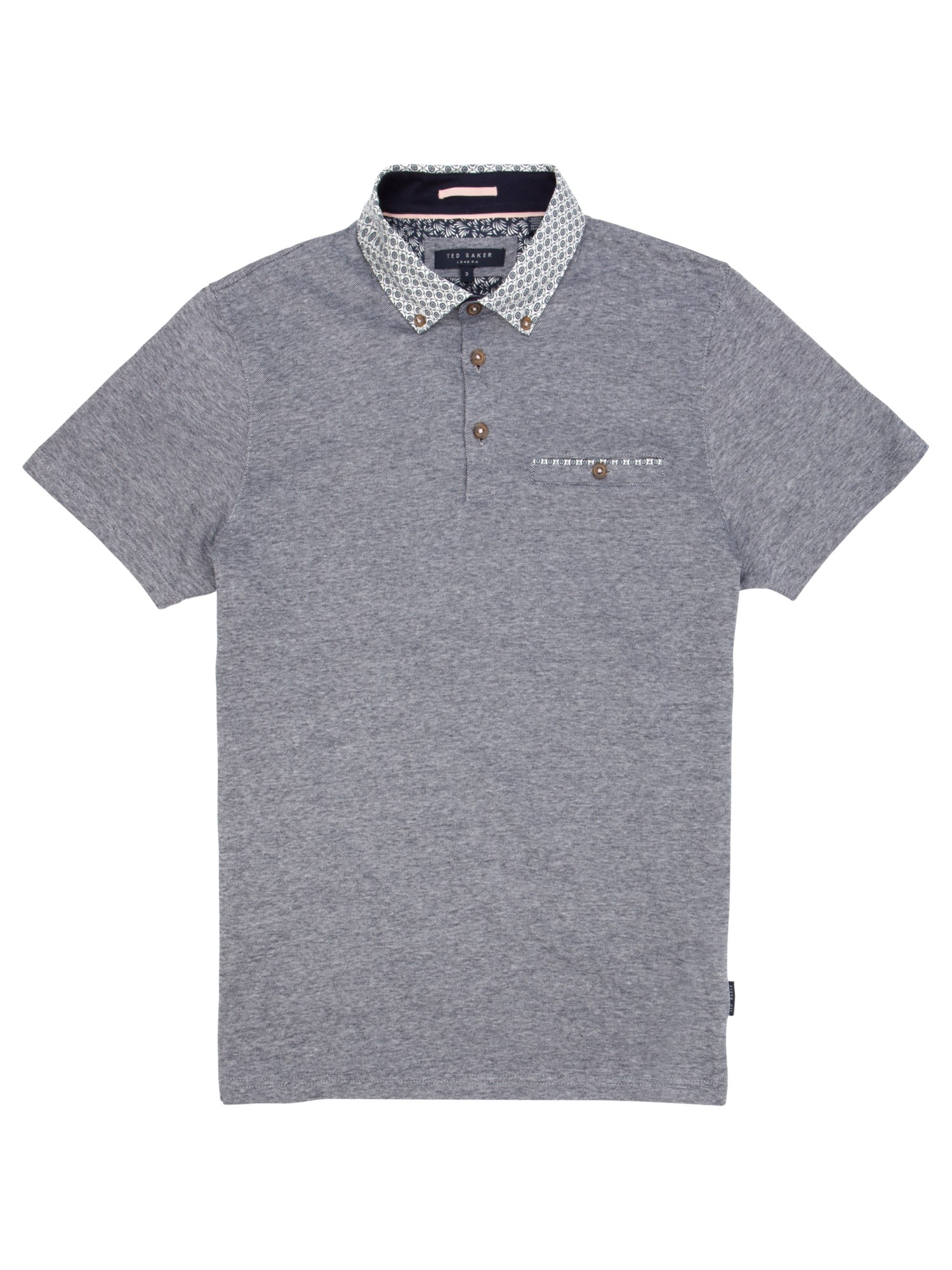 64f8e3d0bd272 Ted Baker Delrey Printed Collar Polo Shirt in Blue for Men - Lyst