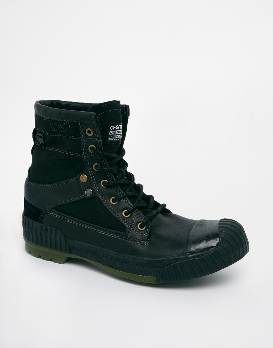 g star raw g star military boots in green for men lyst. Black Bedroom Furniture Sets. Home Design Ideas