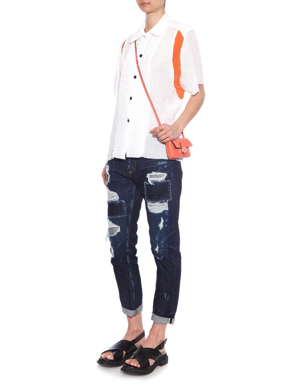 3dcff0dbb5 ... discount code for lyst fendi micro baguette leather cross body bag in  orange 565df 82bba