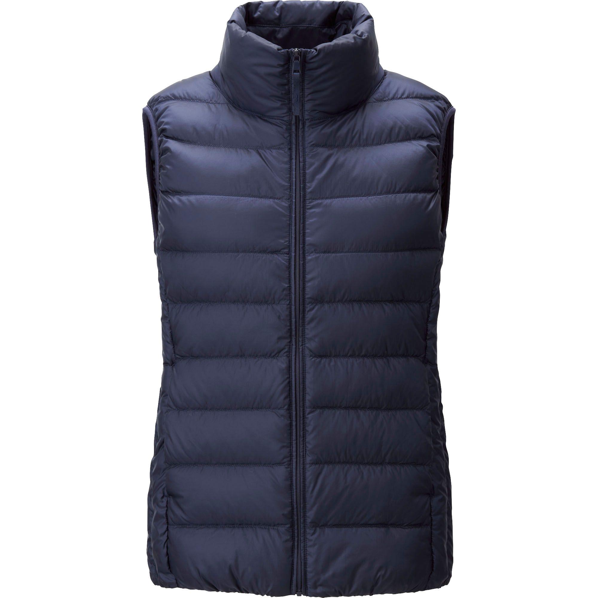 uniqlo ultra light down vest in blue navy lyst. Black Bedroom Furniture Sets. Home Design Ideas
