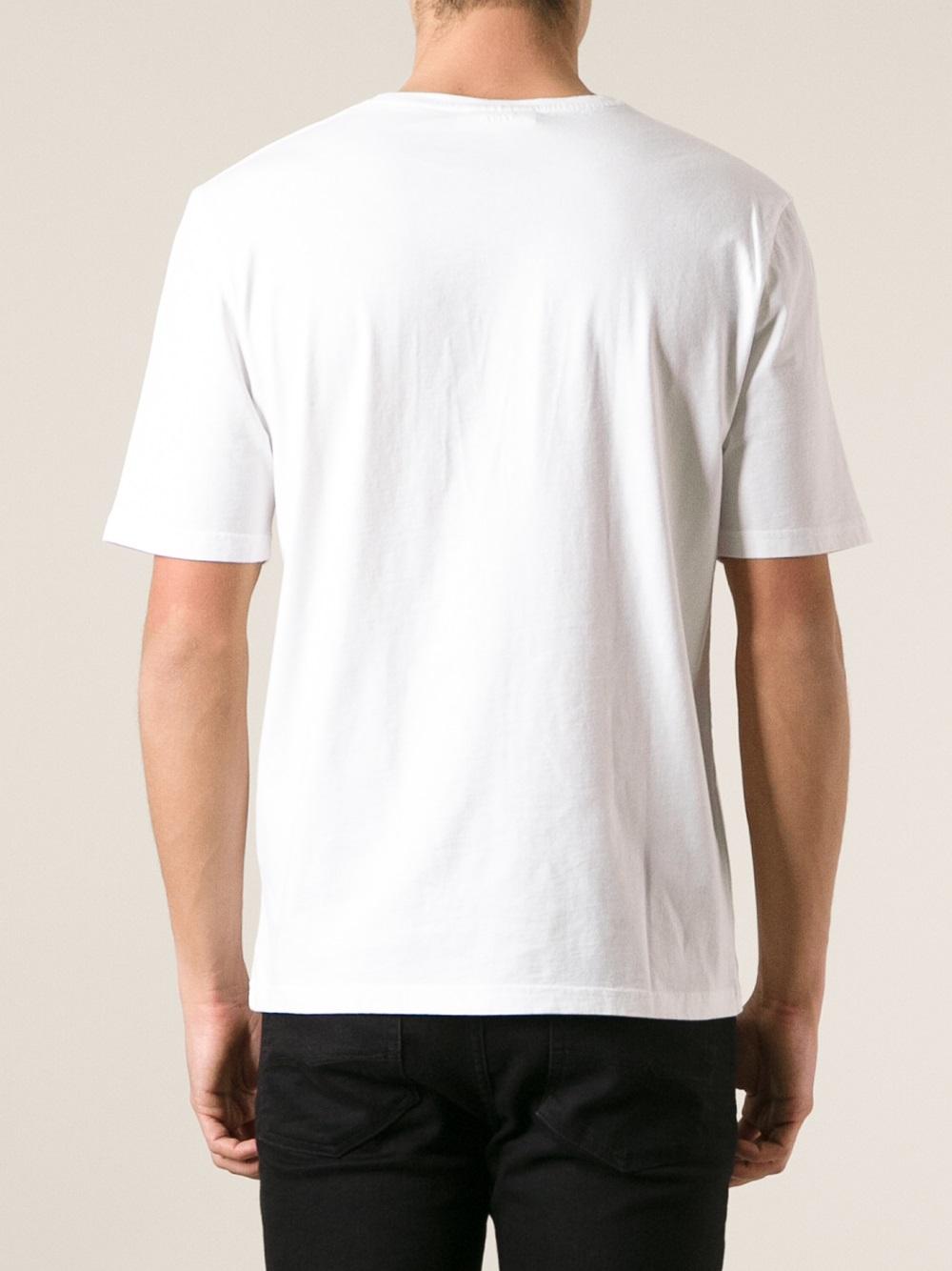 Lyst Ami Logo Print T Shirt In White For Men