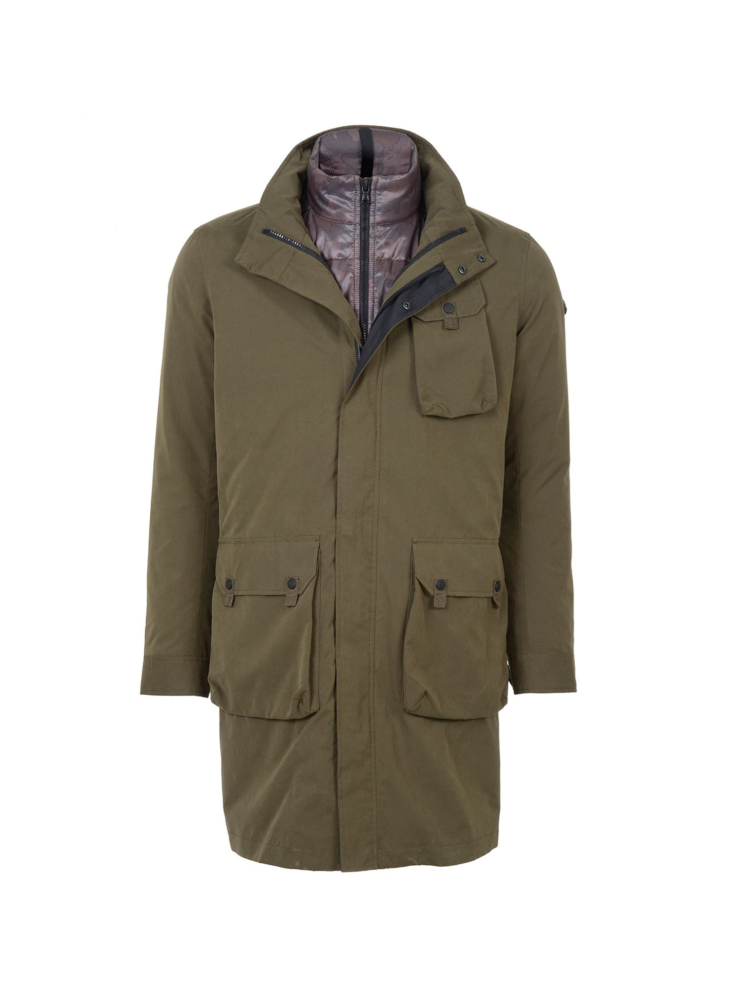 Victorinox Linthal 3 In 1 Coat In Green For Men