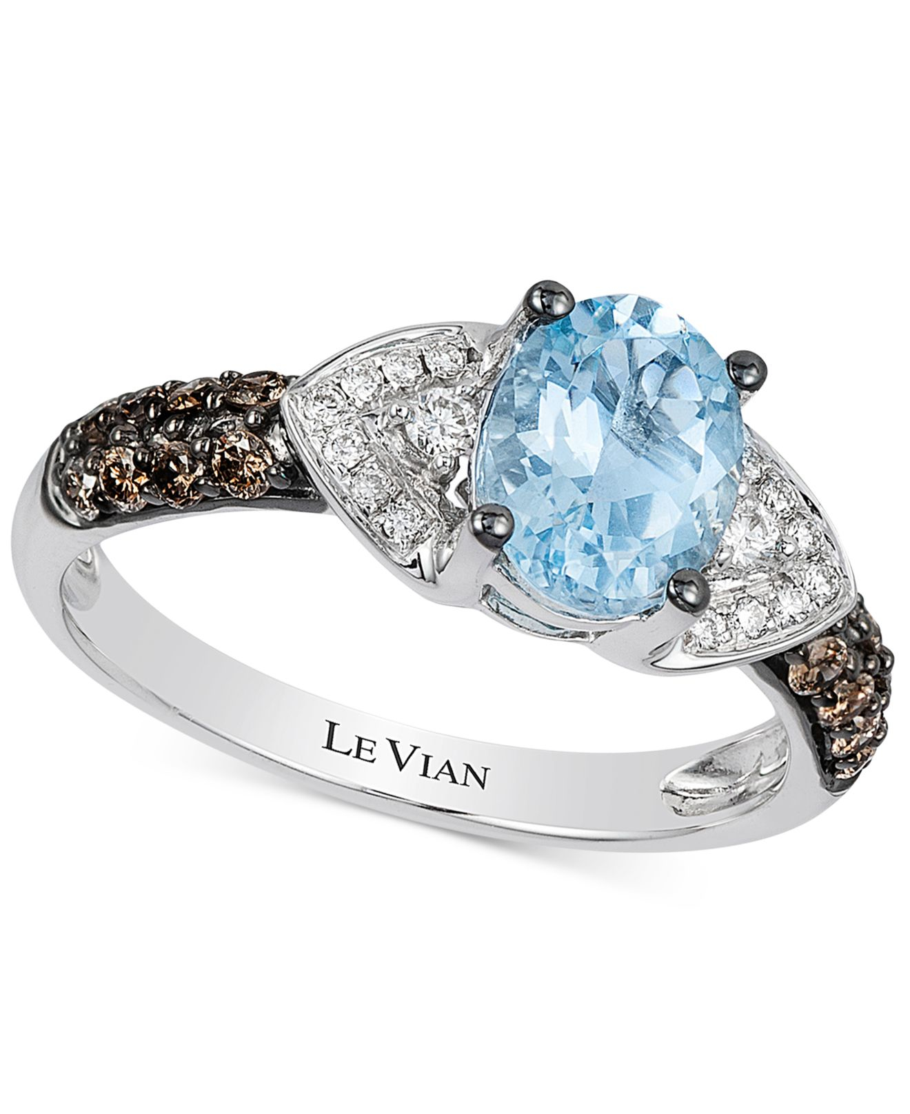 Le vian Aquamarine 1 Ct T w And Diamond 1 3 Ct T w Ring In