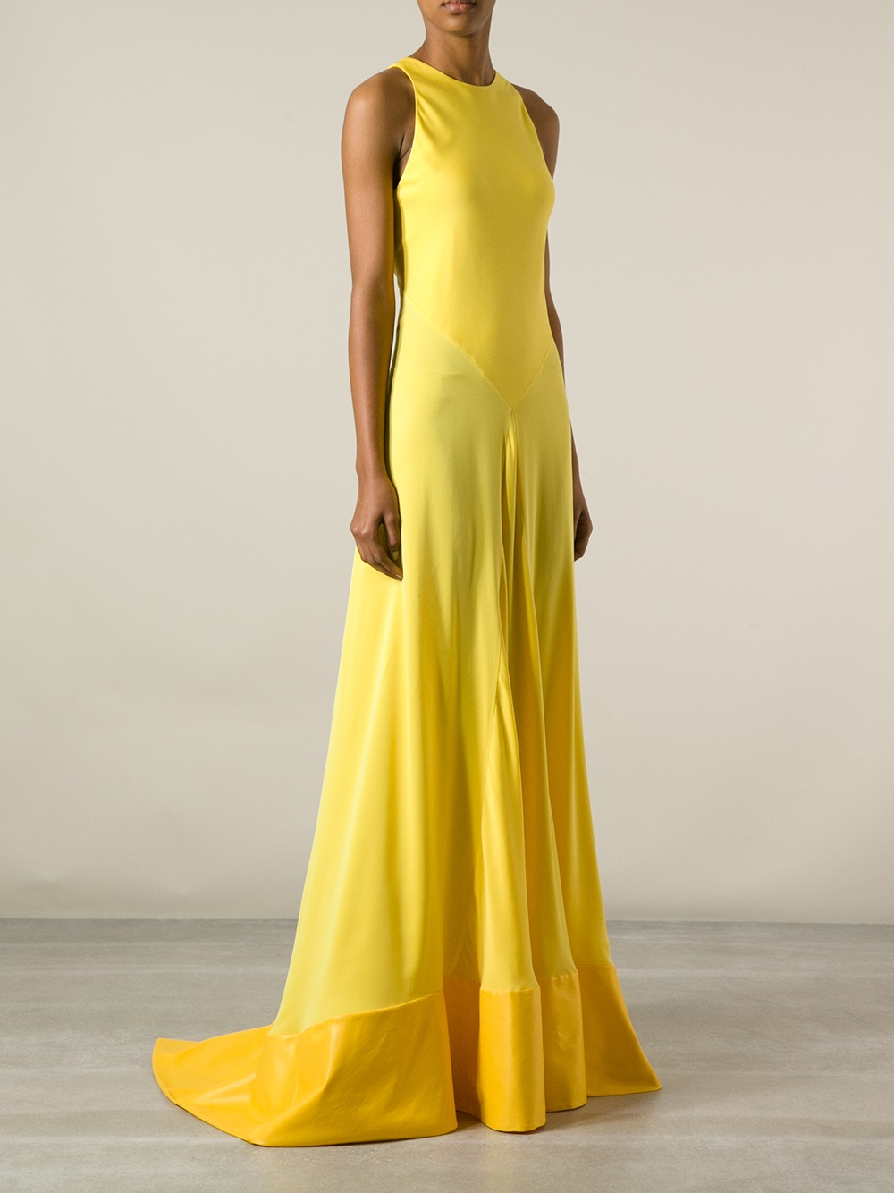 Lyst - Vionnet Sleeveless Flowing Gown in Yellow