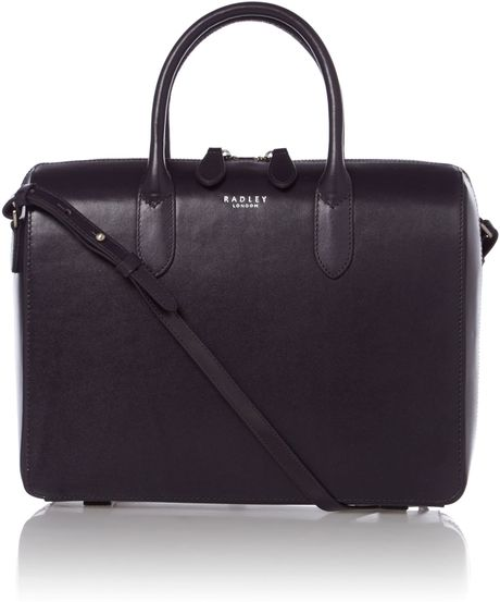 Radley Bloomsbury Medium Navy Round Ew Tote Leather Bag in Blue (Navy)