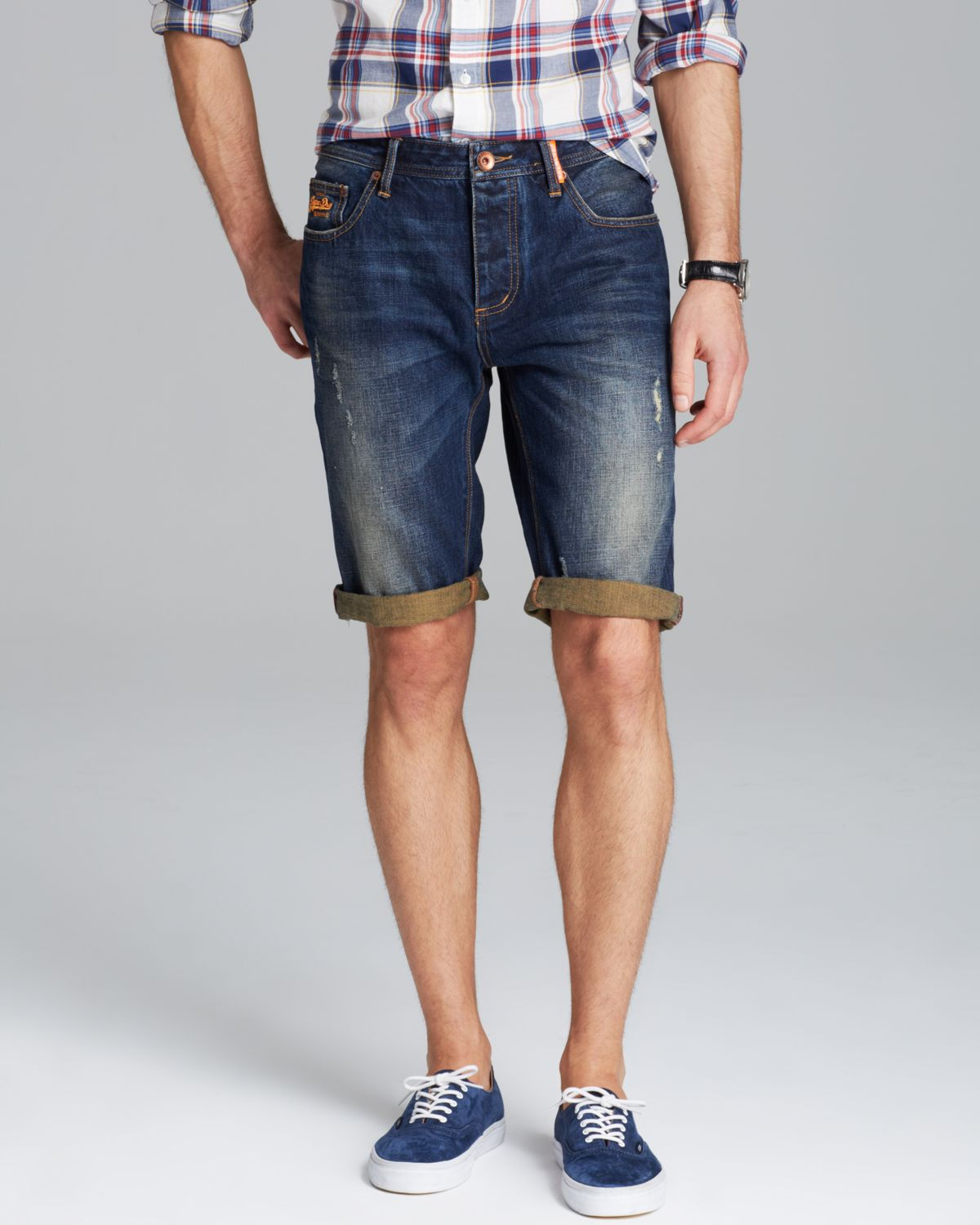 Superdry New Officer Slim Jean Shorts in Blue for Men - Lyst ec1d5c706c30