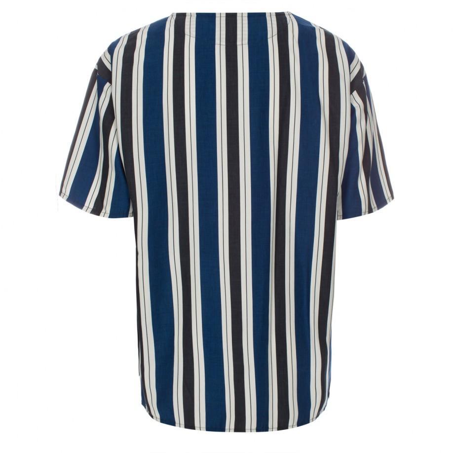 Paul smith Men's Oversized Blue Vertical-stripe Cotton ...