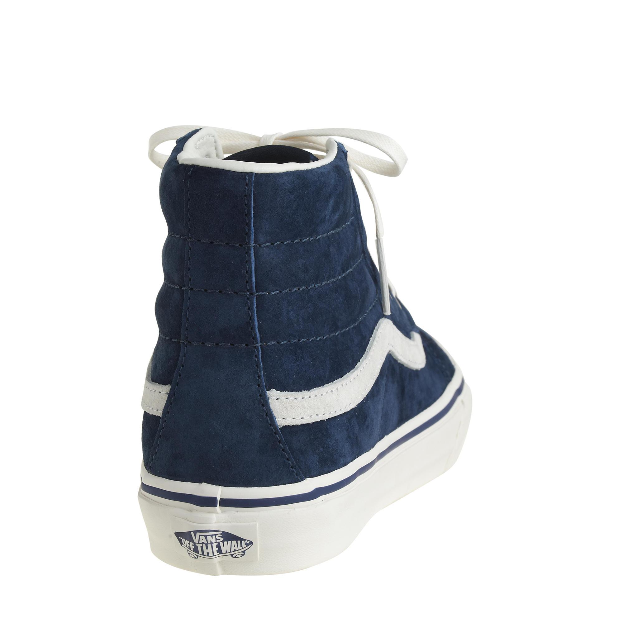 1d375cd1c86549 Lyst - J.Crew Unisex Vans Sk8-hi Sneakers in Blue