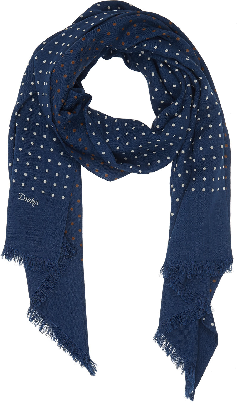 s polka dot reversible scarf in blue for lyst