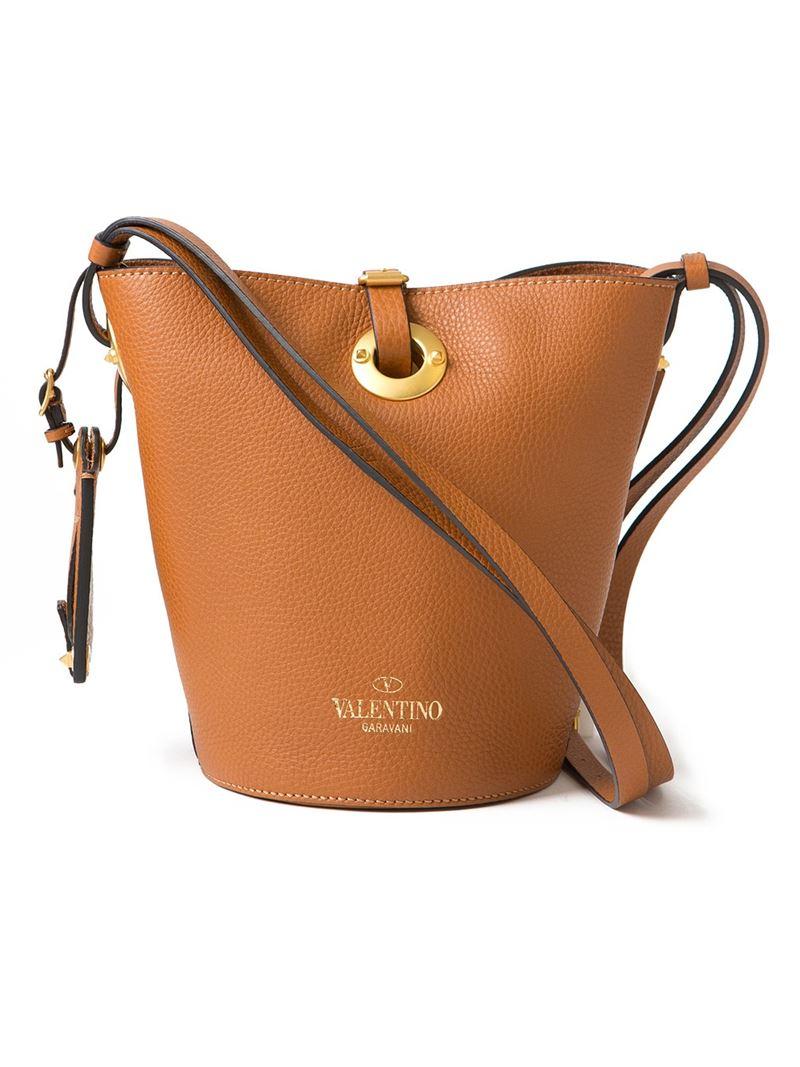 Valentino Bucket Bag In Brown Lyst