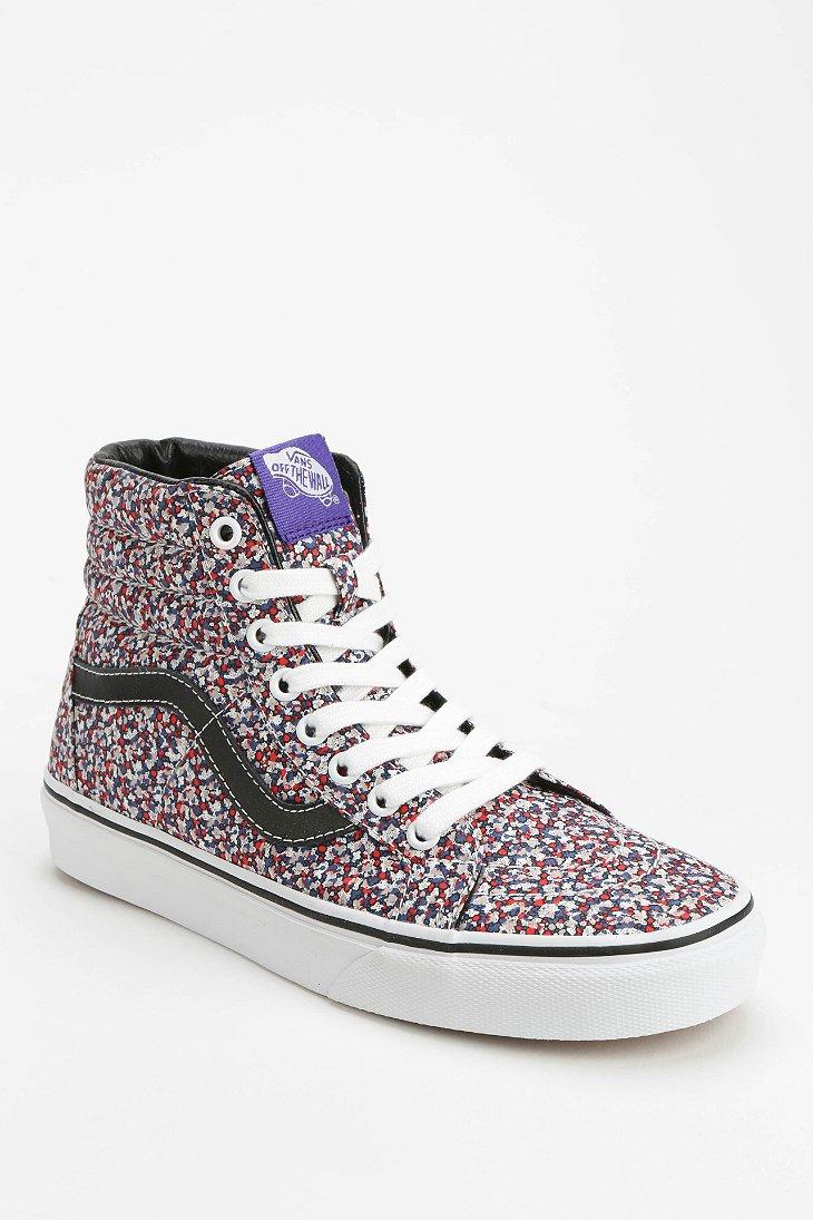 Lyst - Vans Sk8-Hi Micro-Floral Women S Sneaker in Pink 6da5fd912017