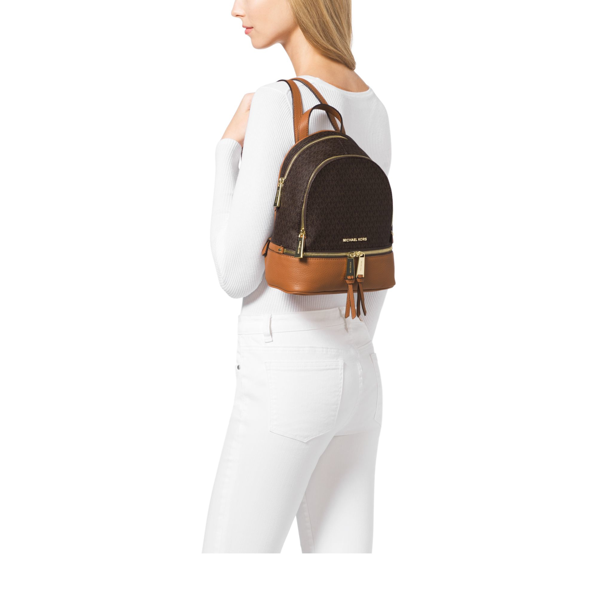 Michael Kors Rhea Mini Backpack Brown 06857a81f0