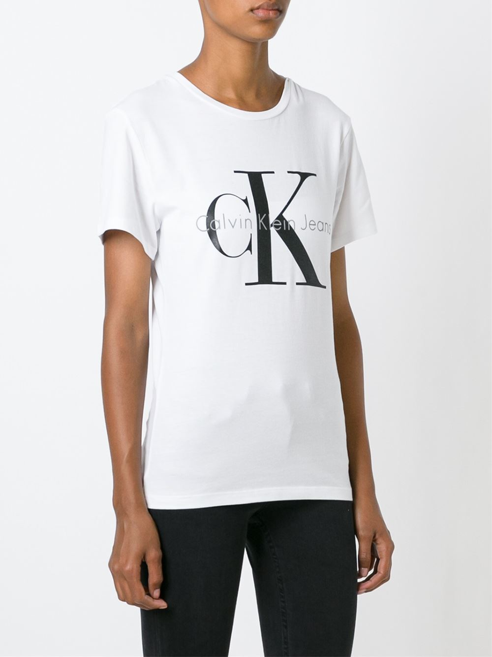 pin tee shirt calvin klein pour femme cwp49 blanc on pinterest. Black Bedroom Furniture Sets. Home Design Ideas
