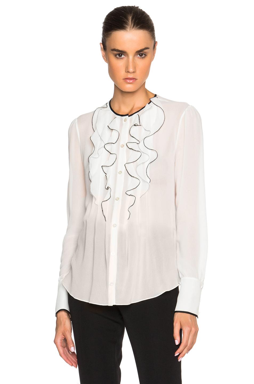 Simple Womens Plus Blouse Ruffled Sleeve - Peach Chevron Blouse
