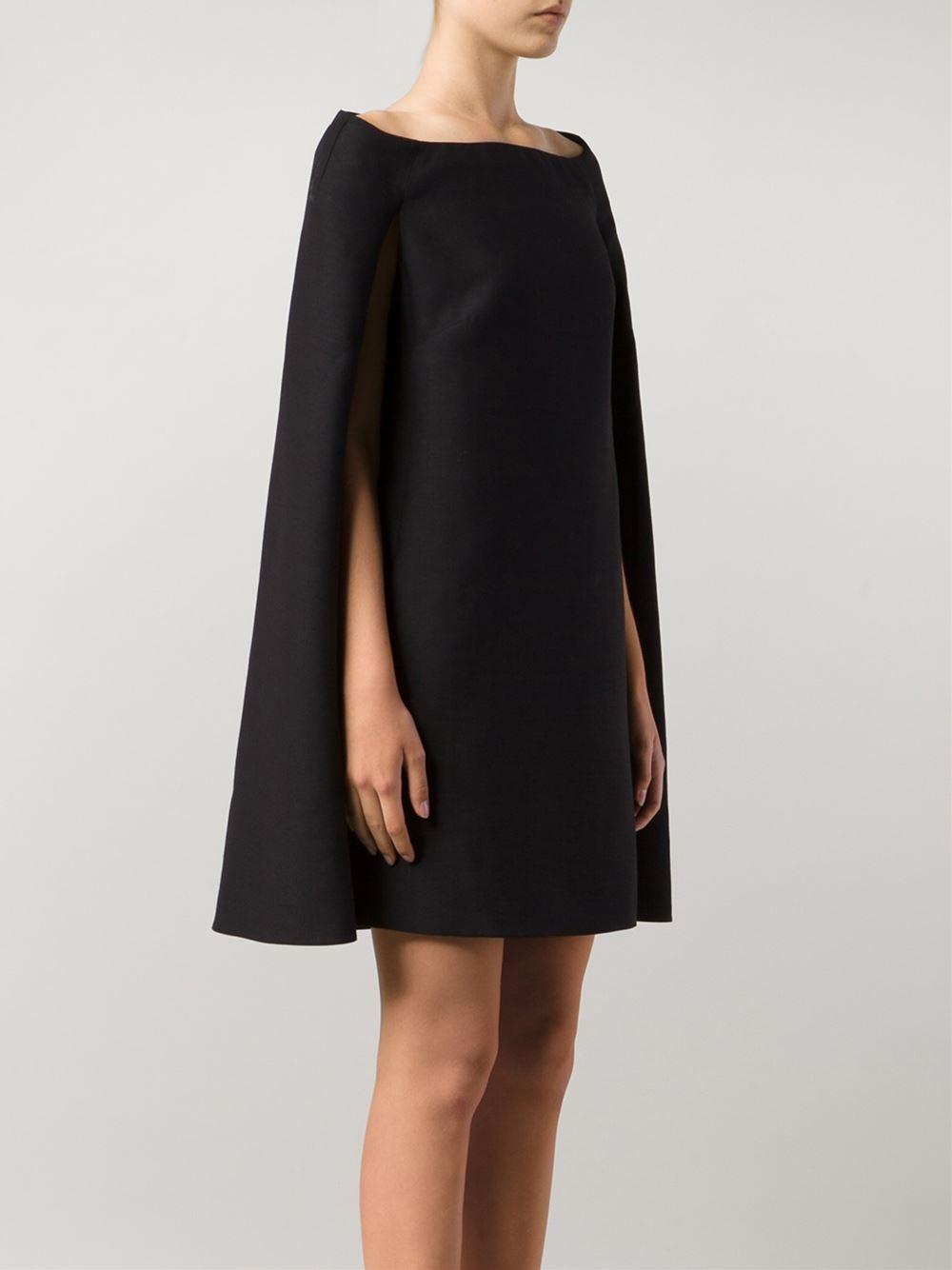 Lyst Valentino Cape Dress In Black