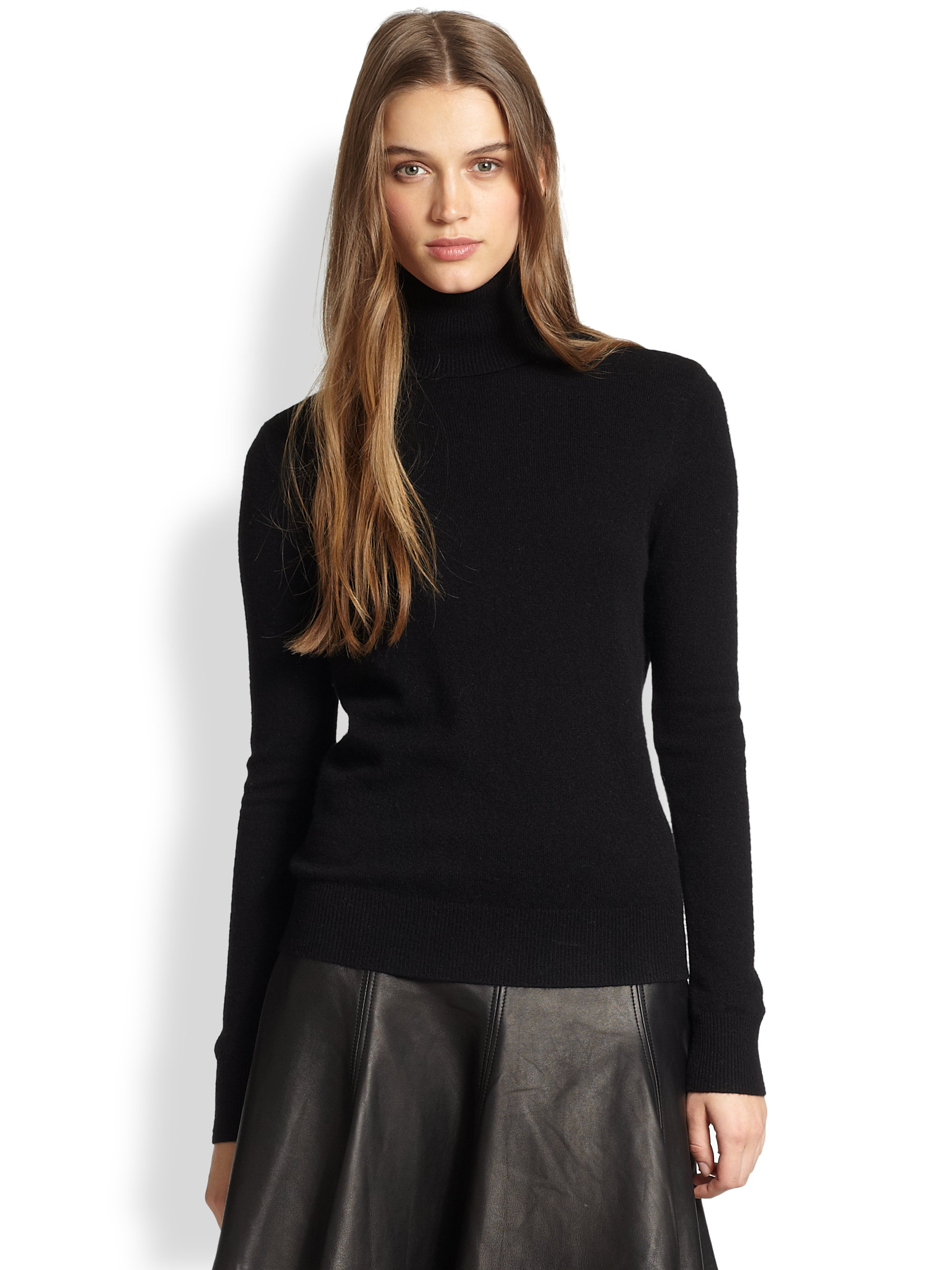 Polo ralph lauren Cashmere Turtleneck Sweater in Black | Lyst