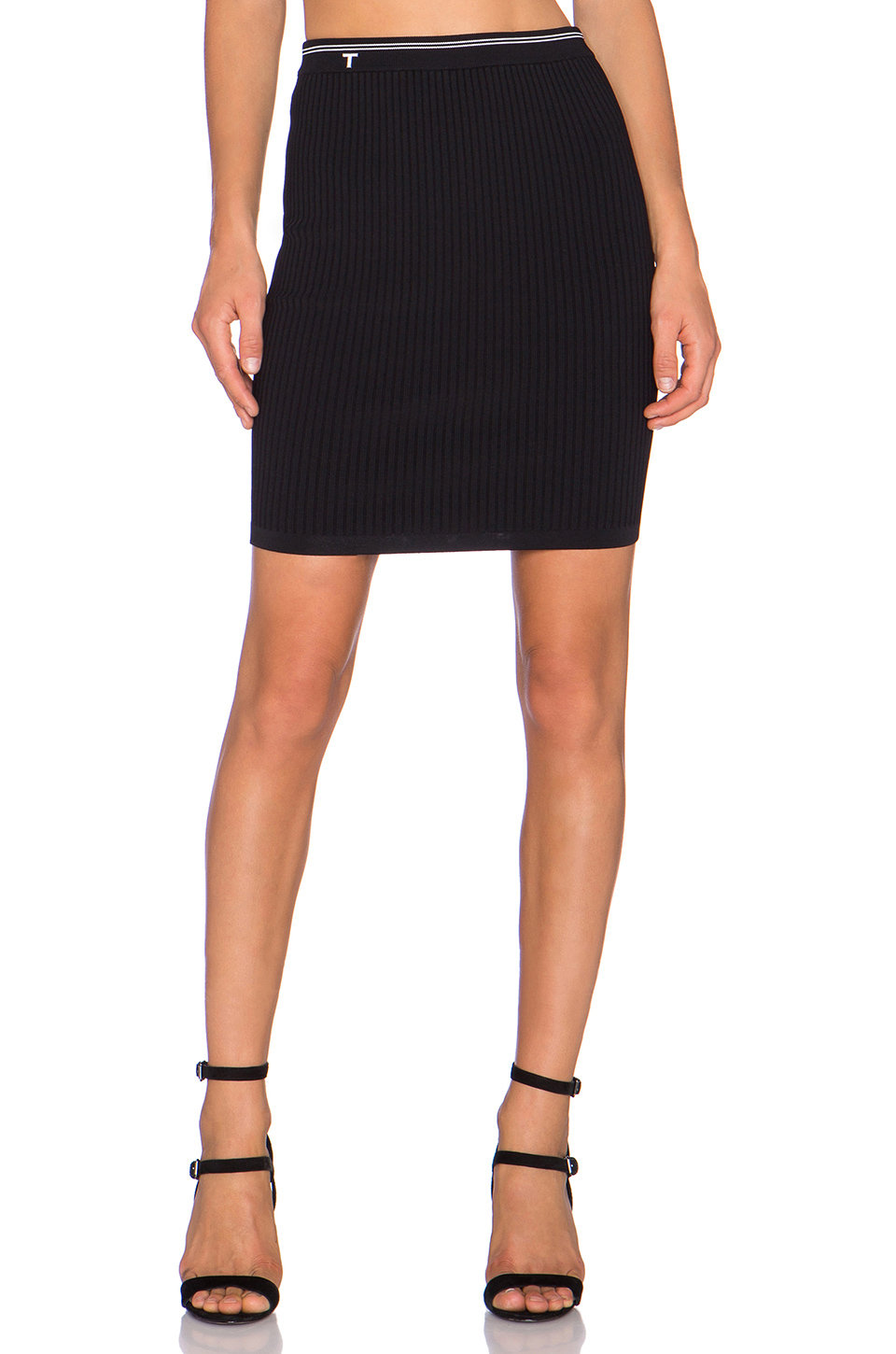 t by wang fitted pencil skirt in black lyst